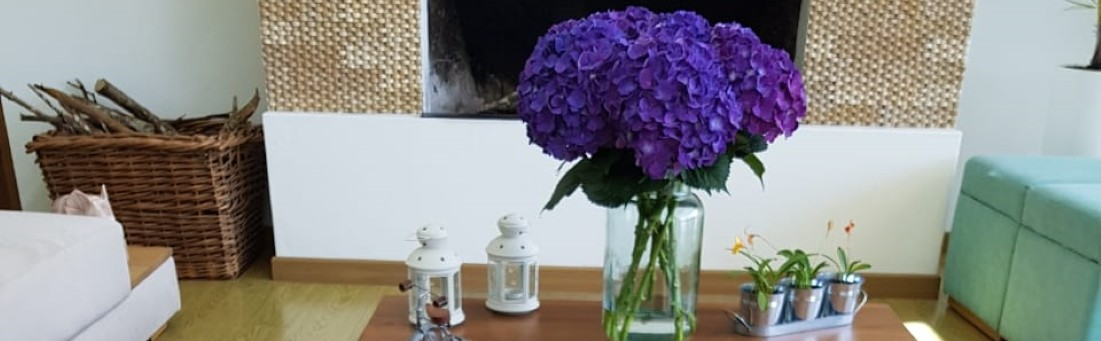 Purple Hydrangeas Fall decoration